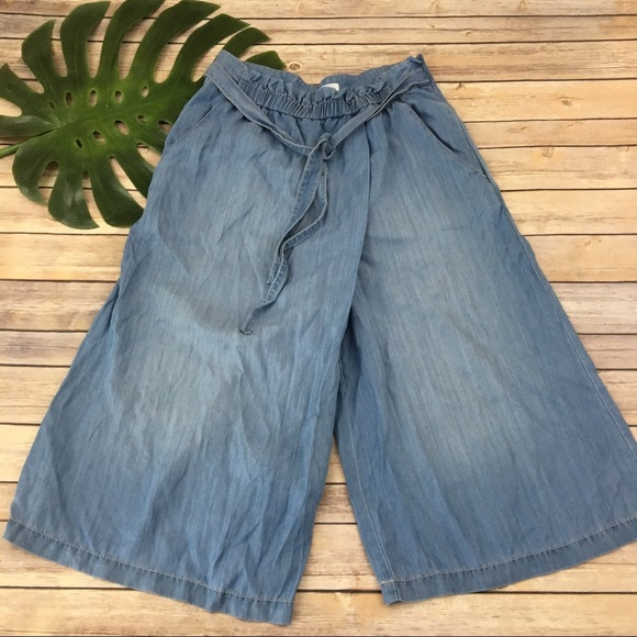 Holding Horses Wide-Leg Denim Trousers Pants Size 31 NW ANTHROPOLOGIE Tag